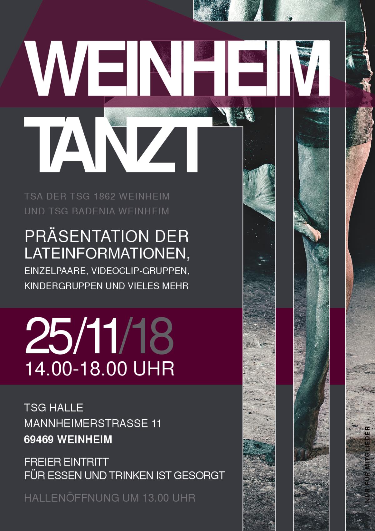 Weinheim tanzt – Präsentation der Lateinformationen